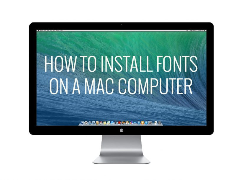How to install fonts on mac osx