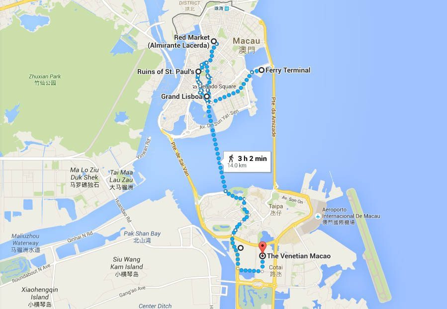 Travel Macau Map